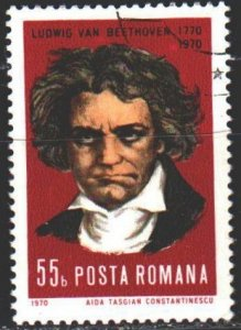Romania. 1970. 2995. Beethoven, composer. USED.