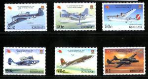 KIRIBATI 622-7 MNG SCV $11.20 (AIRPLANES)
