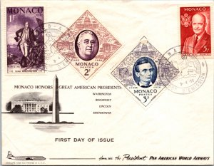 Monaco, Worldwide First Day Cover, Americana