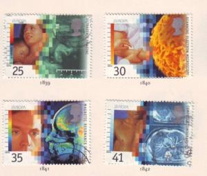 Great Britain  Sc 1577-0 1994 Medical Discoveries stamp set used