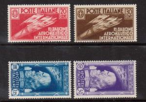 Italy #345 - #348 VF/NH Set