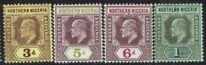 NORTHERN NIGERIA 1910 KEVII RANGE TO 1/-