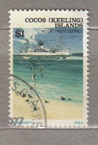 COCOS KEELING ISLANDS Definitive Ship Birds 1$ Used(o) #HS339