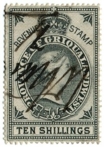 (I.B) Griqualand West Revenue : Duty Stamp 10/-