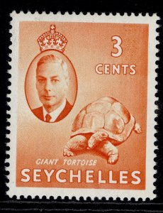 SEYCHELLES GVI SG159, 3c orange, NH MINT.