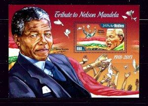 Maldive Is 3114 MNH 2014 Nelson Mandela S/S