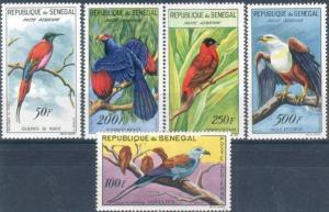 1960-3 Senegal Scott C26-C30 Birds MNH
