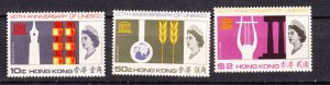 J27771 1966 hong kong set mnh #231-3 unesco