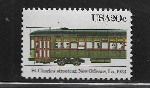 UNITED STATES, 2062, MNH, ST. CHARLES STREETCAR