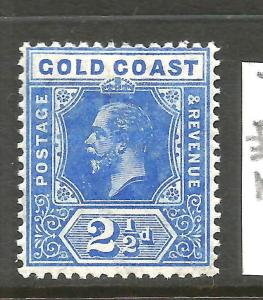 GOLD COAST  1913-21   2 1/2d  KGV  MLH     SG 76