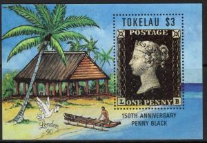 TOKELAU ISLANDS SG182A 1990 150th ANNIV OF PENNY BLACK MNH