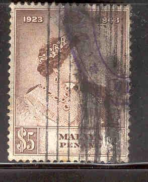 MALAYA PENANG 2 USED SILVER WEDDING ISSUE