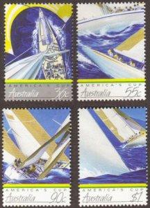 Australia #1011-14 MH cpl sailboats