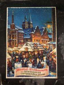 1964 Nuremberg Germany Christmas Postcard Cover To Quebec Canada