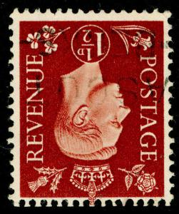 SG464Wi, 1½d red-brown, FINE USED. WMK INV