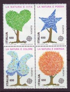 J22656 Jlstamps 1986 italy set blk,s 4 mnh #1672 europa trees