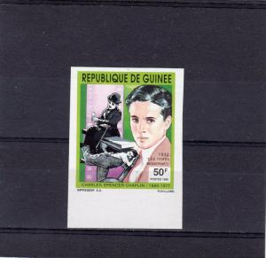 GUINEA 1992 Sc#1204 CHARLES CHAPLIN Set (1) Imperforated MNH