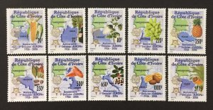 Ivory Coast 2006 #1156-65, Europa 50th Anniversary, MNH.