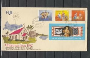 Fiji, Scott cat. 477-480. Christmas issue. First day cover.