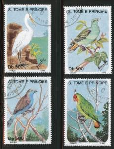 St. Thomas & Prince  Scott 1112-6 short Bird set 4/5 CTO