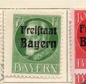Bavaria 1919 Early Issue Fine Mint Hinged 7.5pf. Optd 234026
