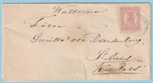 FINLAND 10 ON 1874 COVER - LATE USAGE - CV92