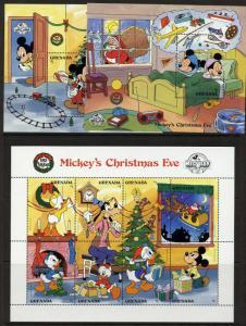 Grenada 1661-3 MNH Disney, Christmas, Mickey's 60th Anniversary