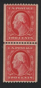 United States MINT Scott Number 386 GUIDE LINE PAIR MNH  XF - BARNEYS
