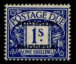SOUTHERN RHODESIA GVI SG D7, 1s deep blue, M MINT.