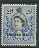 Jamaica  SG 183  - Mint light trace of hinge  -  see scan and details