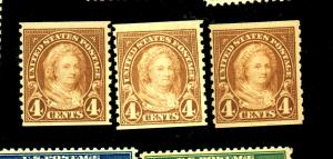 601 (3) MINT F-VF OG NH Cat $23