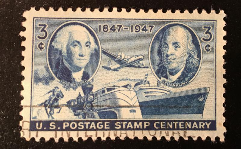 947 Postage Centenary, circulated single, VF, NH, Vic's Stamp Stash
