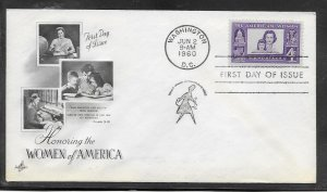 US #1152 The American Woman Artcraft cachet addressed fdc