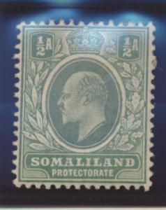 Somaliland Protectorate Stamp Scott #27, Mint Heavily Hinged - Free U.S. Ship...