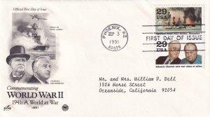 1991, A World at War-1941, Art Craft/PCS, FDC (E11331)
