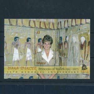 [106682] Tuvalu 2007 Royalty Princess Diana Egypt Souvenir Sheet MNH