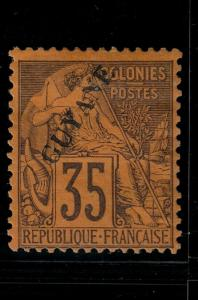 French Guiana 1892 27 Mint SCV $225.00