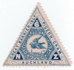 (I.B) New Zealand Cinderella : Great Barrier Island Pigeon Post 6d