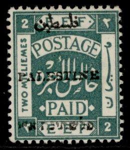 PALESTINE GV SG17, 2m blue-green, M MINT. Cat £17.