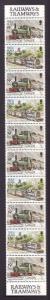 Isle of Man-Sc#358f-unused NH booklet pane-Trains-Locomotives-1988-