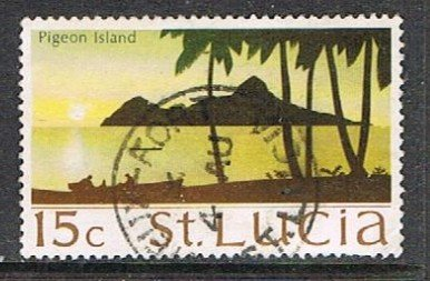 St. LUCIA 190932 - 1970-73 15c Scenes used