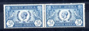 South Africa KGV 1935 3d Silver Jubilee MNH pair SG#67 WS13183