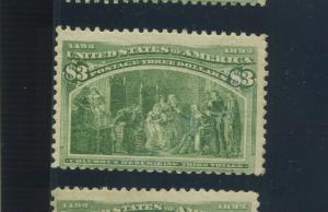 Scott 243 Columbian High Value Mint Stamp  (Stock 243-12)