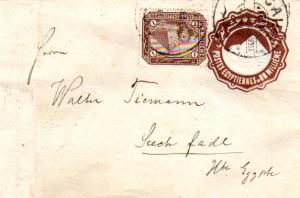 Egypt 1m Sphinx and Pyramid on 1m Sphinx and Pyramid Envelope 1898 Caire Dome...