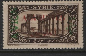 ALAOUITES, C5, HINGED, 1925 Stamp of Syria Overprinted with additional surcharge