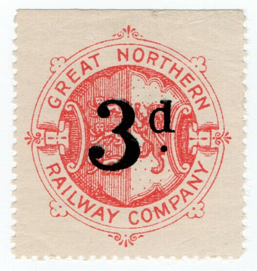 (I.B) Great Northern Railway : Parcel Stamp 3d