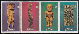 Niue 1980 MH Sc #267 Strip of 4 30c Artifacts, Handcrafts