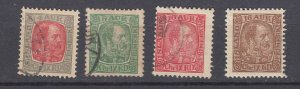 J29748, 1902-4 iceland 3 used 1 mh #35-6,38,39 mh kings