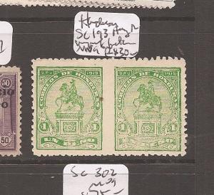 Honduras SC 193, horizontal pair imperforate between MNG (11cci)