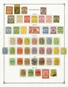 Transvaal South Africa Collection of 59 Mostly Mint Stamps